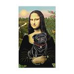 Mona's Black Pug Sticker (Rectangle)