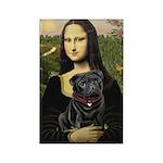 Mona's Black Pug Rectangle Magnet (10 pack)