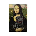 Mona's Black Pug Rectangle Magnet