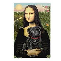 Mona's Black Pug Postcards (Package of 8)