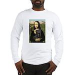 Mona's Black Pug Long Sleeve T-Shirt