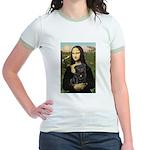 Mona's Black Pug Jr. Ringer T-Shirt