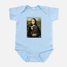 Mona's Black Pug Infant Bodysuit