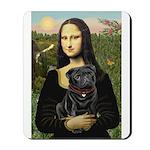 Mona's Black Pug Mousepad