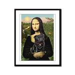 Mona's Black Pug Framed Panel Print