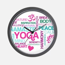 Yoga Inspirations Wall Clock