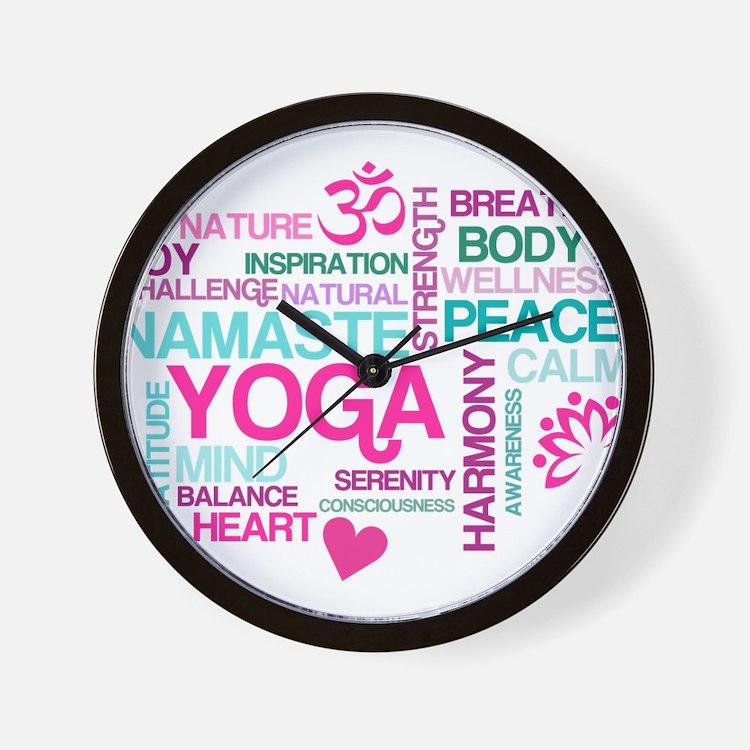 Yoga Inspirations Wall Clock