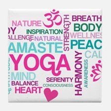 Yoga Inspirations Tile Coaster