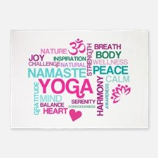 Yoga Inspirations 5'x7'Area Rug
