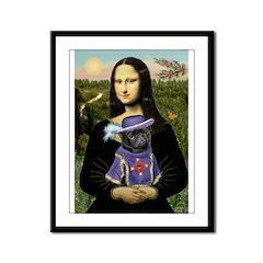 Mona & Sir Pug Framed Panel Print