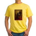 Lincoln-Black Pug Yellow T-Shirt