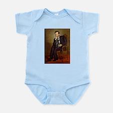 Lincoln-Black Pug Infant Bodysuit