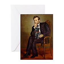 Lincoln-Black Pug Greeting Card