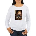 The Queen's Black Pug Women's Long Sleeve T-Shirt