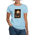 The Queen's Black Pug Women's Light T-Shirt