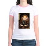 The Queen's Black Pug Jr. Ringer T-Shirt