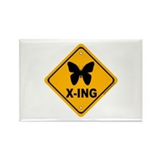 Butterfly X-ing Rectangle Magnet (10 pack)