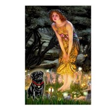 Fairies & Black Pug Postcards (Package of 8)