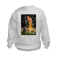Fairies & Black Pug Sweatshirt