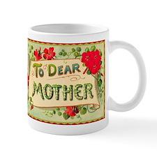 Red Flowers Dear Mother Mugs