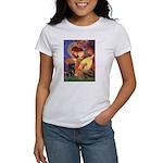 Mandolin Angel / Black Pug Women's T-Shirt