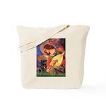 Mandolin Angel / Black Pug Tote Bag