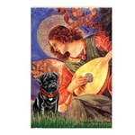 Mandolin Angel / Black Pug Postcards (Package of 8