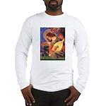Mandolin Angel / Black Pug Long Sleeve T-Shirt