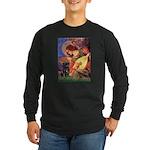 Mandolin Angel / Black Pug Long Sleeve Dark T-Shir