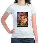 Mandolin Angel / Black Pug Jr. Ringer T-Shirt