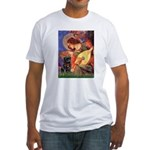 Mandolin Angel / Black Pug Fitted T-Shirt