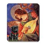 Mandolin Angel / Black Pug Mousepad