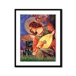 Mandolin Angel / Black Pug Framed Panel Print