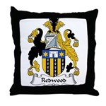Redwood Family Crest Throw Pillow