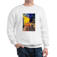Cafe / Black Pug Sweatshirt