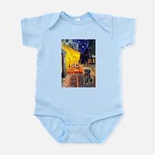 Cafe / Black Pug Infant Bodysuit