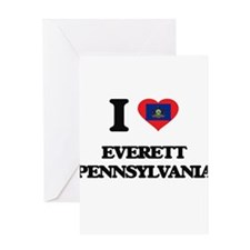 I love Everett Pennsylvania Greeting Cards
