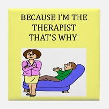 therapist gifts t-shirts Tile Coaster