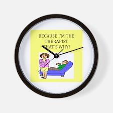 therapist gifts t-shirts Wall Clock