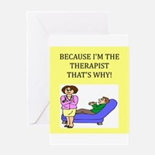 therapist gifts t-shirts Greeting Card