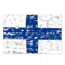 Vintage Finland flag Postcards (Package of 8)