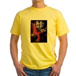 Lady / Black Pug Yellow T-Shirt