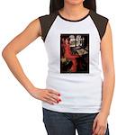 Lady / Black Pug Women's Cap Sleeve T-Shirt