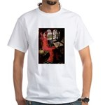 Lady / Black Pug White T-Shirt