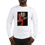 Lady / Black Pug Long Sleeve T-Shirt