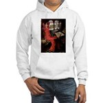 Lady / Black Pug Hooded Sweatshirt