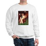 Winged Figure / Black Pug Sweatshirt