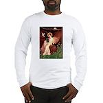 Winged Figure / Black Pug Long Sleeve T-Shirt