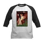 Winged Figure / Black Pug Kids Baseball Jersey