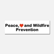 Peace Love And Wildfire Car Magnet 10 X 3